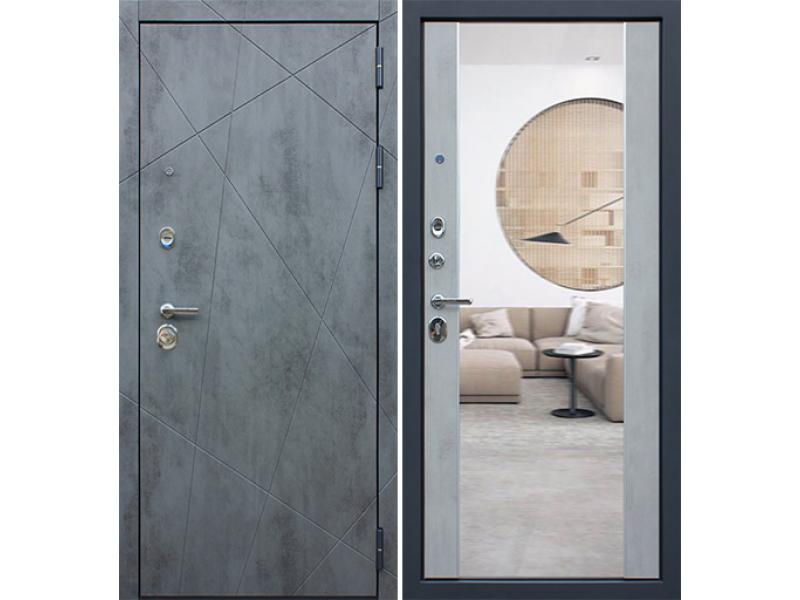 Входная дверь АСД Дуэт Б с зеркалом