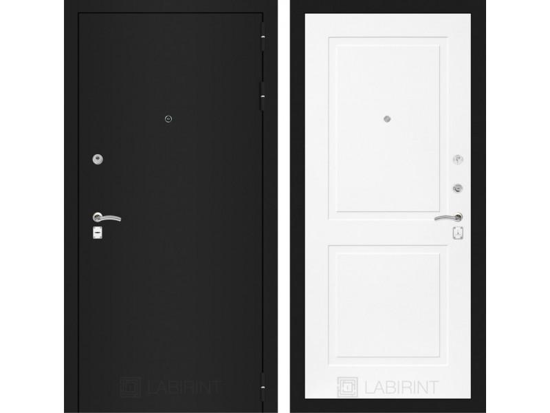 CLASSIC шагрень черная 11 - Белый софт
