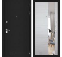CLASSIC шагрень черная с Зеркалом - Акация светлая горизонтальная
