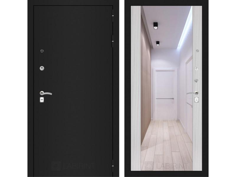 CLASSIC шагрень черная с Зеркалом Максимум - Сандал белый