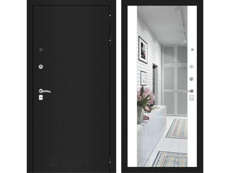 CLASSIC шагрень черная с Зеркалом Максимум - Белый софт