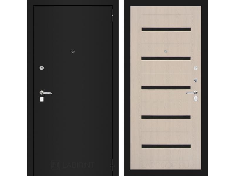 CLASSIC шагрень черная 01 - Беленый дуб