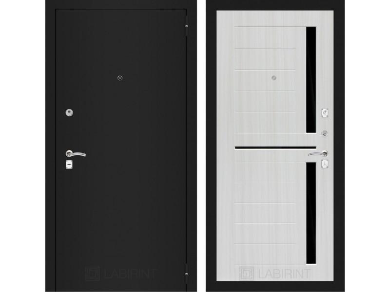 Classic шагрень черная 02 - Сандал белый