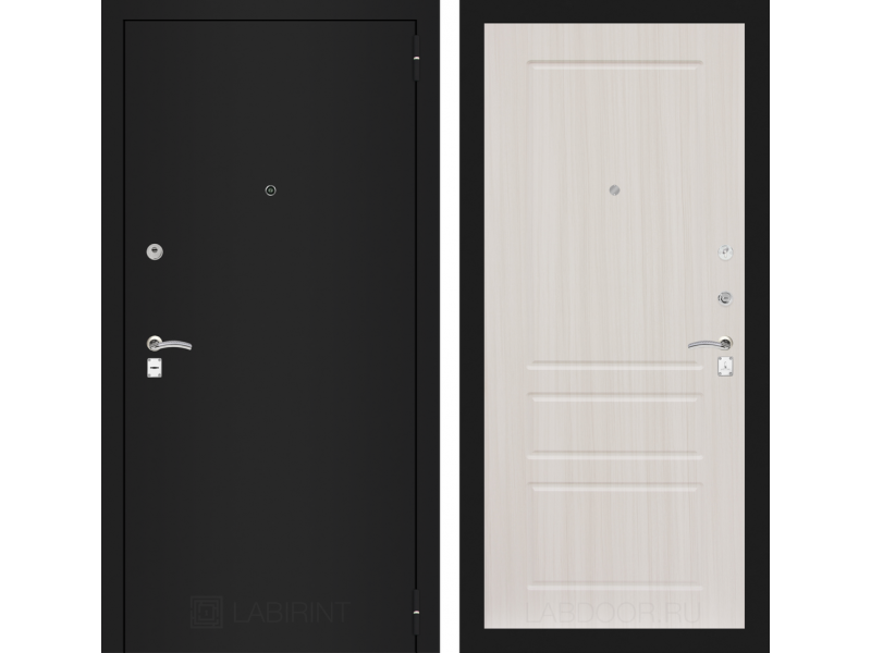 CLASSIC шагрень черная 03 - Сандал белый