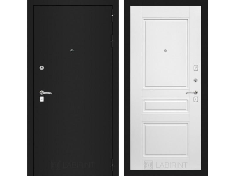 CLASSIC шагрень черная 03 - Белый софт