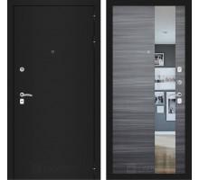CLASSIC шагрень черная с Зеркалом - Сандал серый горизонтальный