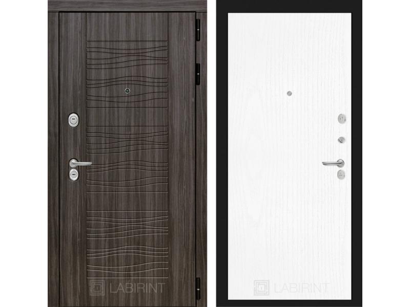 Входная дверь SCANDI Дарк грей 07 - Белое дерево