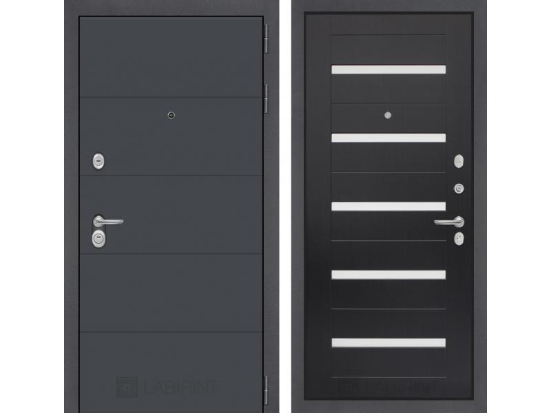 Входная дверь ART графит 01 - Венге, стекло белое