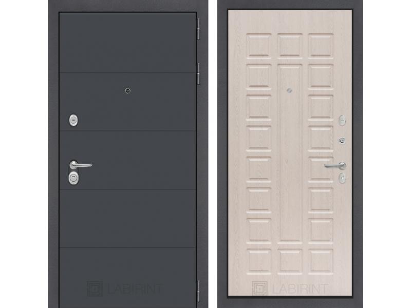 Входная дверь ART графит 04 - Беленый дуб