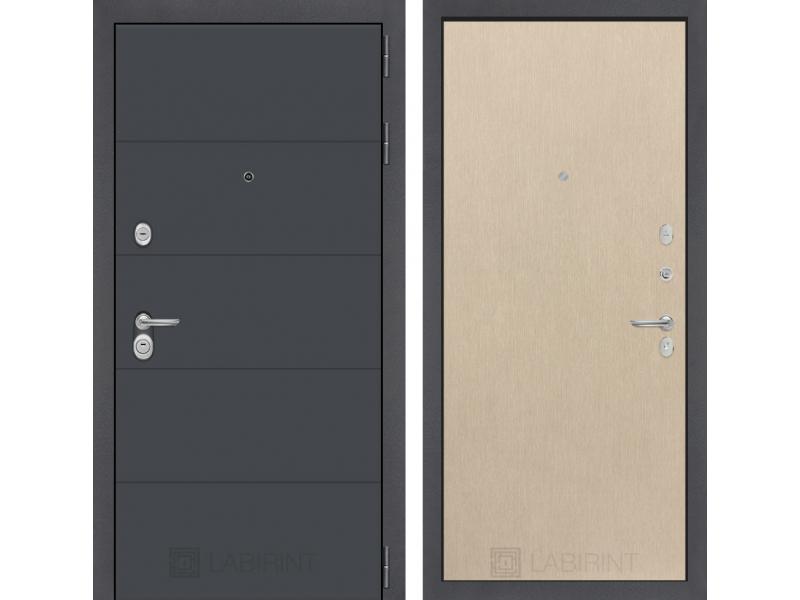 Входная дверь ART графит 05 - Венге светлый