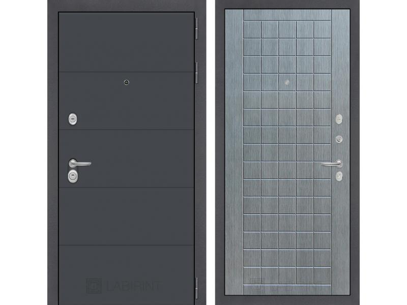 Входная дверь ART графит 09 - Лен сильвер