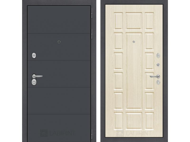 Входная дверь ART графит 12 - Беленый дуб