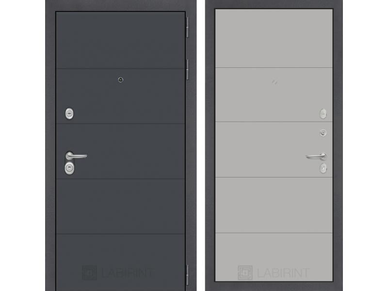 Входная дверь ART графит 13 - Грей софт