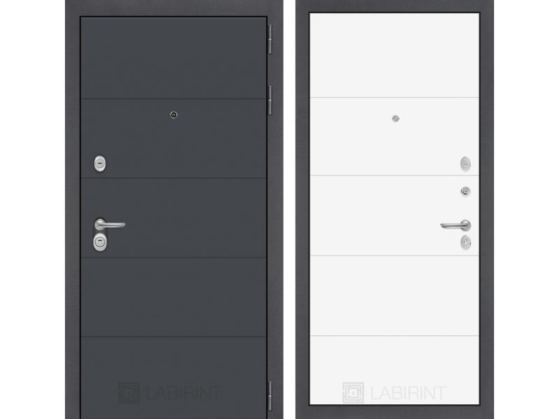 Входная дверь ART графит 13 - Белый софт