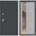 Входная дверь ART графит с Зеркалом 19 - Грей софт