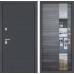 Входная дверь ART графит с Зеркалом - Сандал серый горизонтальный