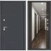 Входная дверь ART графит с Зеркалом Максимум - Венге