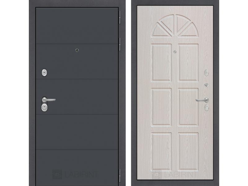 Входная дверь ART графит 15 - Алмон 25
