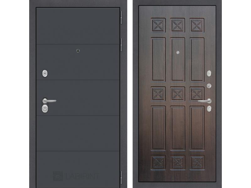 Входная дверь ART графит 16 - Алмон 28