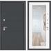 Входная дверь ART графит с Зеркалом 18 - Белое дерево