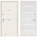 Входная дверь Лайн WHITE 01 - Сандал белый, стекло белое