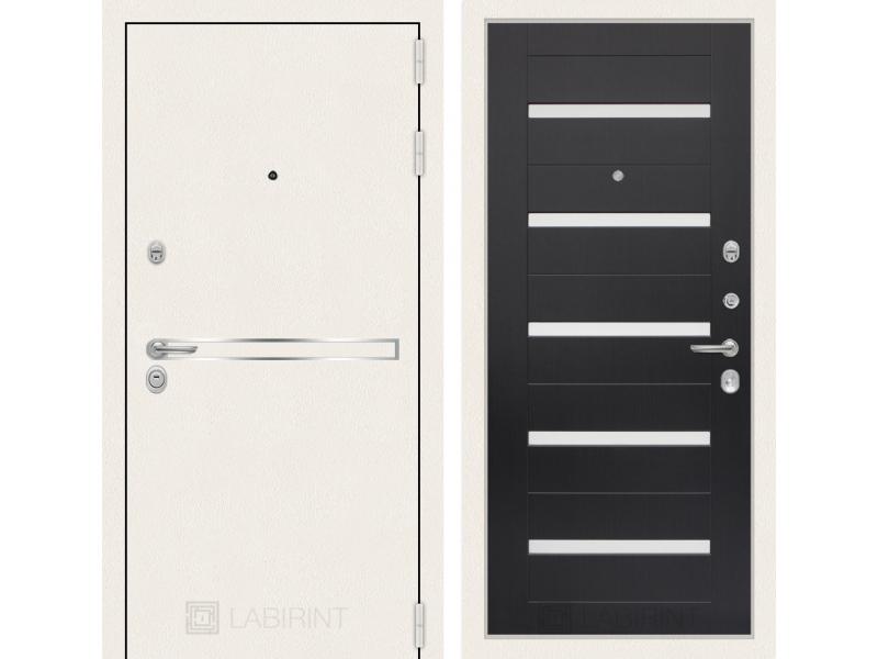 Входная дверь Лайн WHITE 01 - Венге, стекло белое