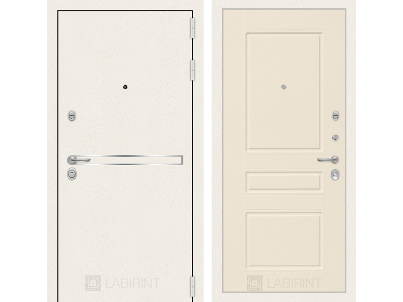 Входная дверь Лайн WHITE 03 - Крем софт