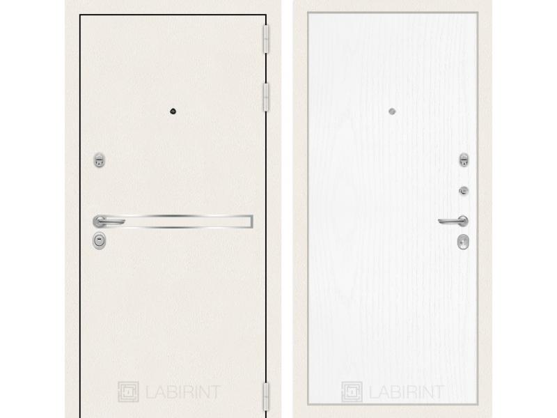 Входная дверь Лайн WHITE 07 - Белое дерево