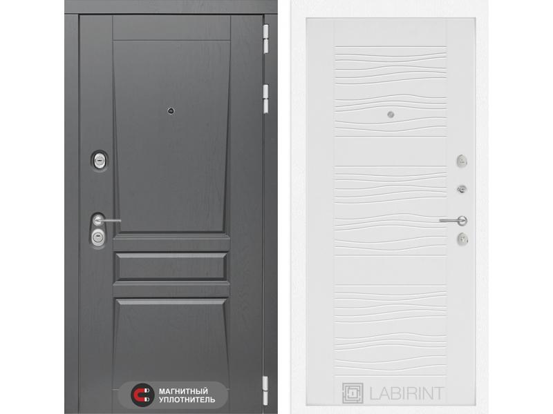 Входная дверь Платинум 06 - Белое дерево