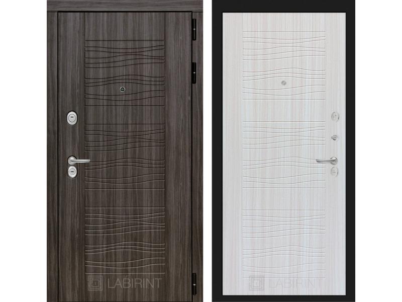 Входная дверь SCANDI Дарк грей 06 - Сандал белый