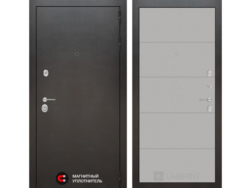 Входная дверь SILVER 13 - Грей софт