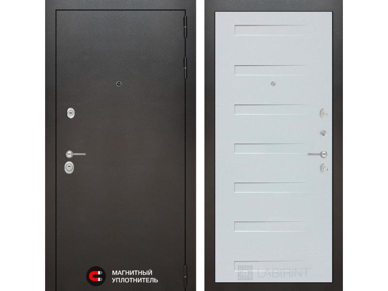 Входная дверь SILVER 14 - Дуб кантри белый горизонтальный