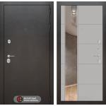 Входная дверь SILVER с Зеркалом 19 - Грей софт