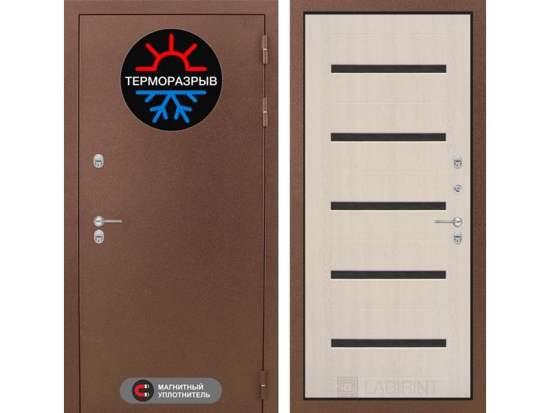 Входная дверь ТЕРМО Магнит 01 - беленый дуб
