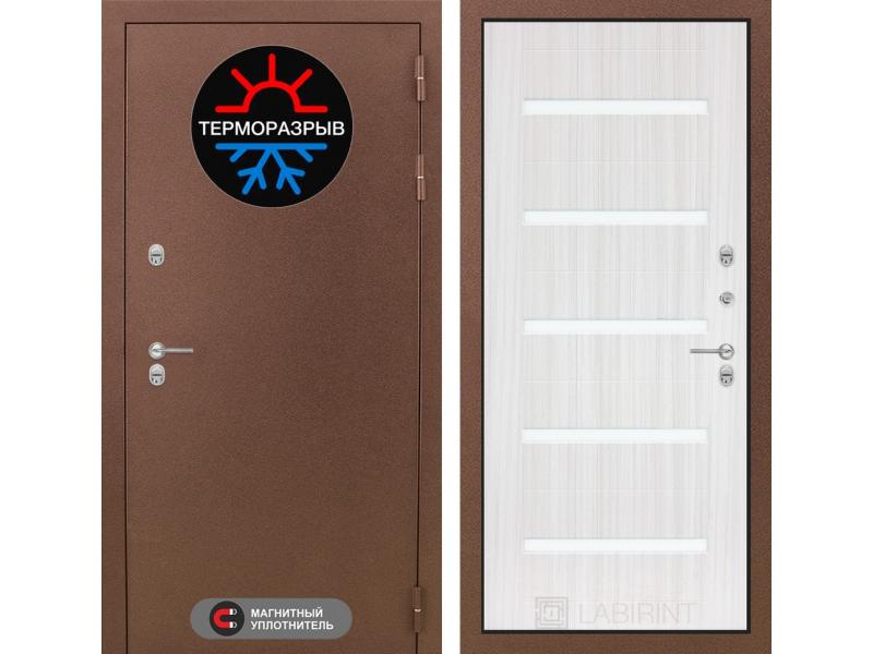 Входная дверь ТЕРМО Магнит 01 - Сандал белый