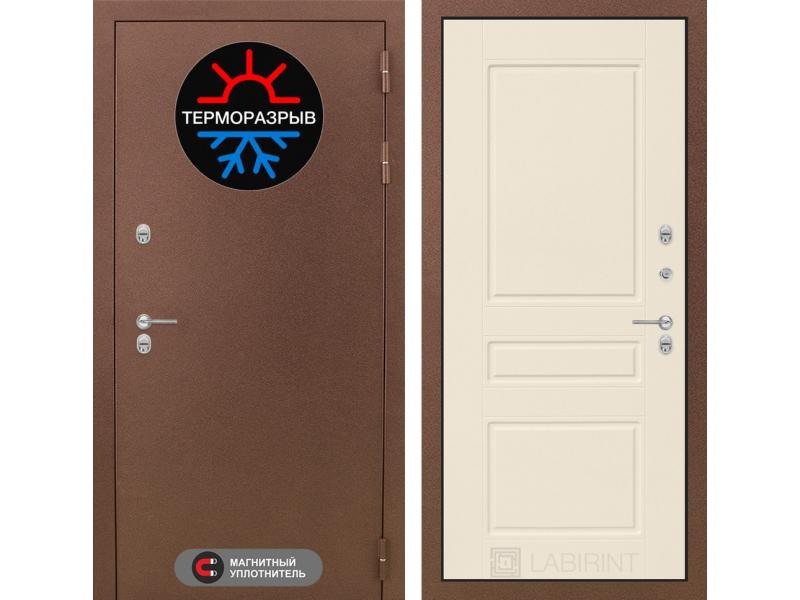 Входная дверь ТЕРМО Магнит 03 - Крем софт