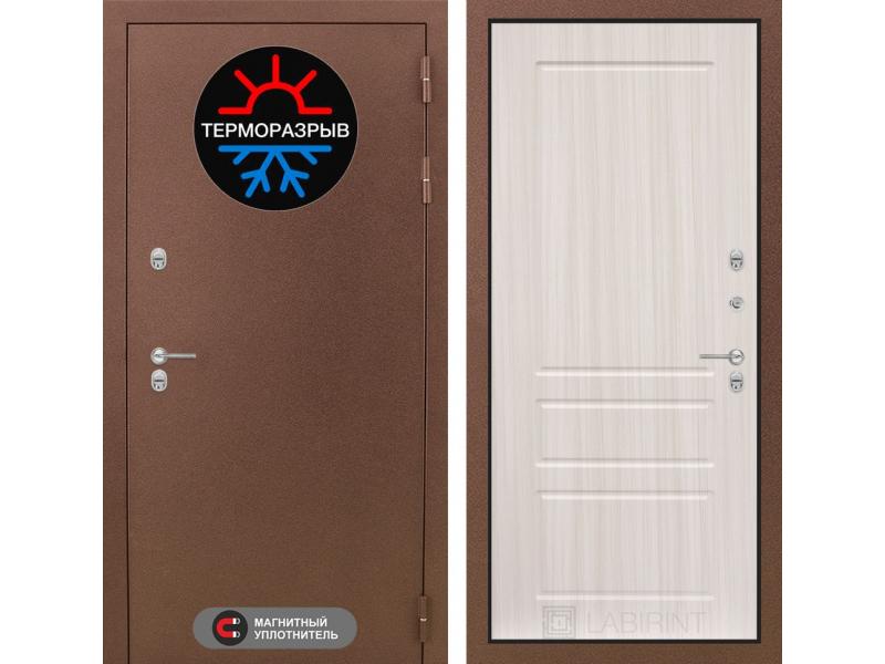 Входная дверь ТЕРМО Магнит 03 - Сандал белый