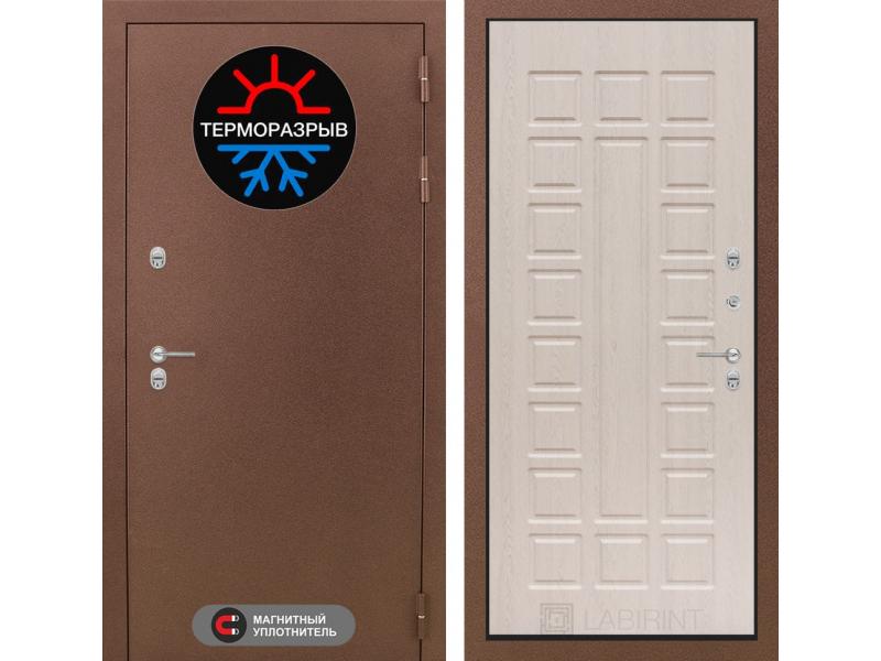 Входная дверь ТЕРМО Магнит 04 -Беленый дуб