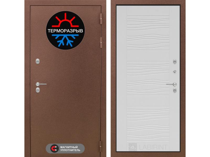 Входная дверь ТЕРМО Магнит 06 - Белое дерево