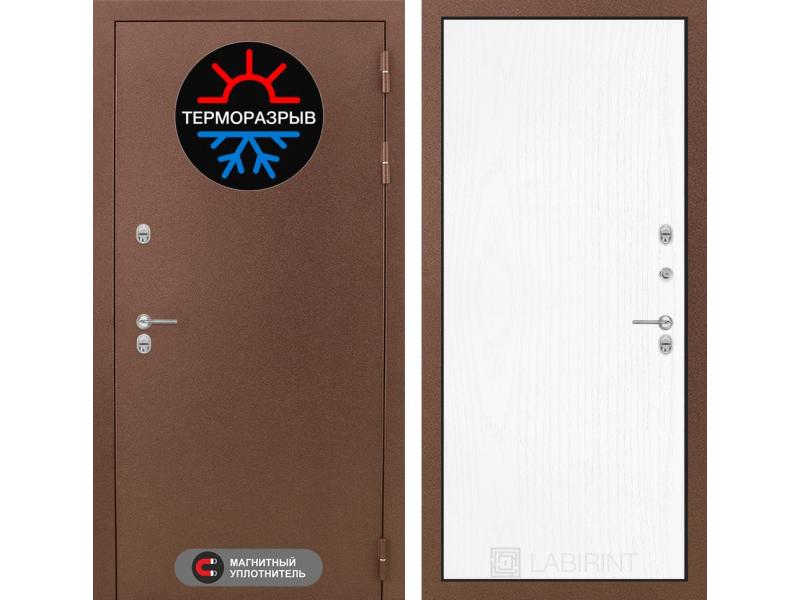 Входная дверь ТЕРМО Магнит 07 - Белое дерево
