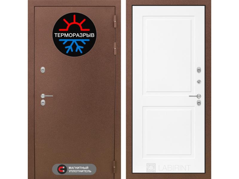 Входная дверь ТЕРМО Магнит 11 - Белый софт
