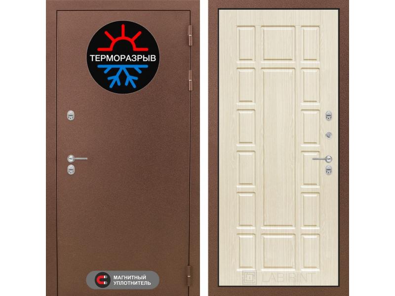 Входная дверь ТЕРМО Магнит 12 - Беленый дуб