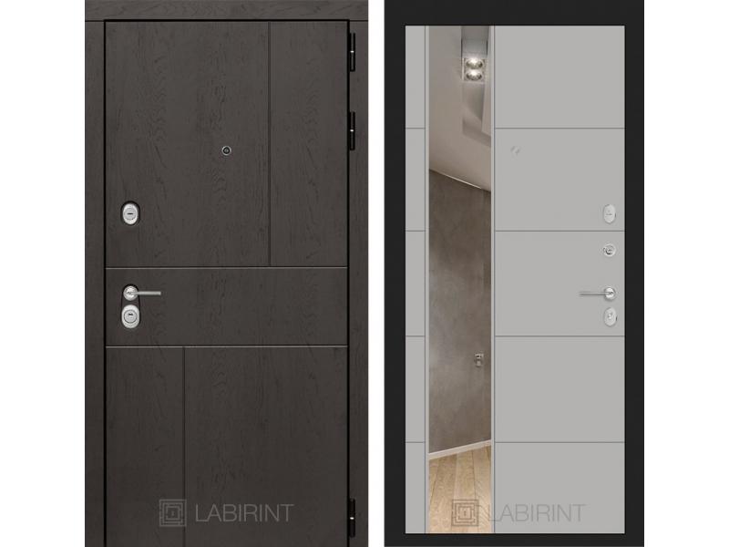 Входная дверь URBAN с Зеркалом 19 - Грей софт