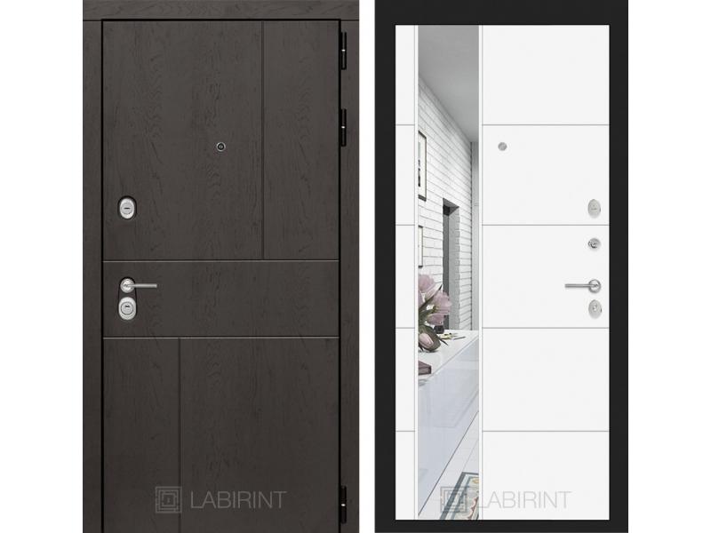Входная дверь URBAN с Зеркалом 19 - Белый софт